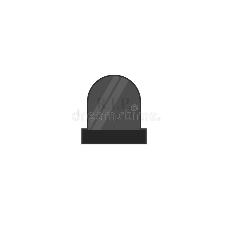 Rest in peace cemetary gravestove icon isolated on background. Rest in peace cemetary gravestove icon isolated on background vector illustration