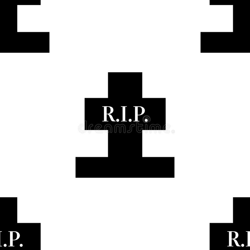 Rest in peace grave cross seamless cemetary pattern for design. Rest in peace grave cross seamless cemetary pattern for design vector illustration