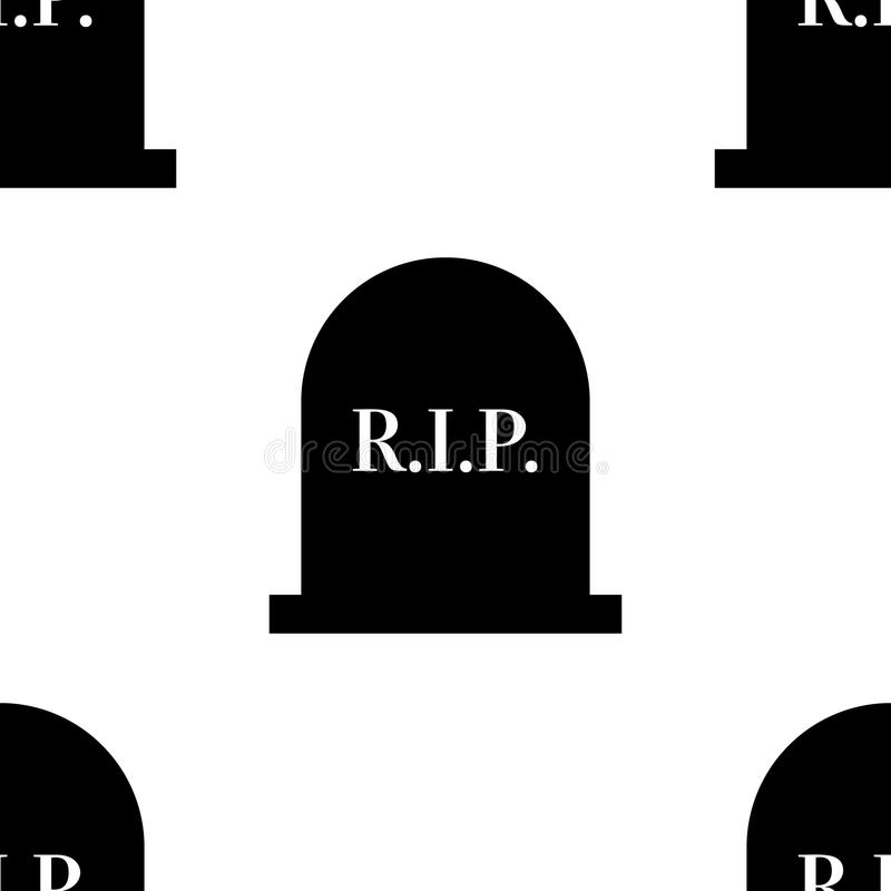 Rest in peace gravestone seamless cemetary pattern for design. Rest in peace gravestone seamless cemetary pattern for design royalty free illustration