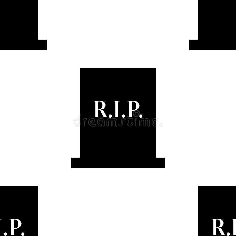 Rest in peace gravestone seamless cemetary pattern illustration. Rest in peace gravestone seamless cemetary pattern illustration vector illustration