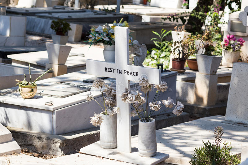 Rest in peace. The inscription on the grave rest in peace royalty free stock photography