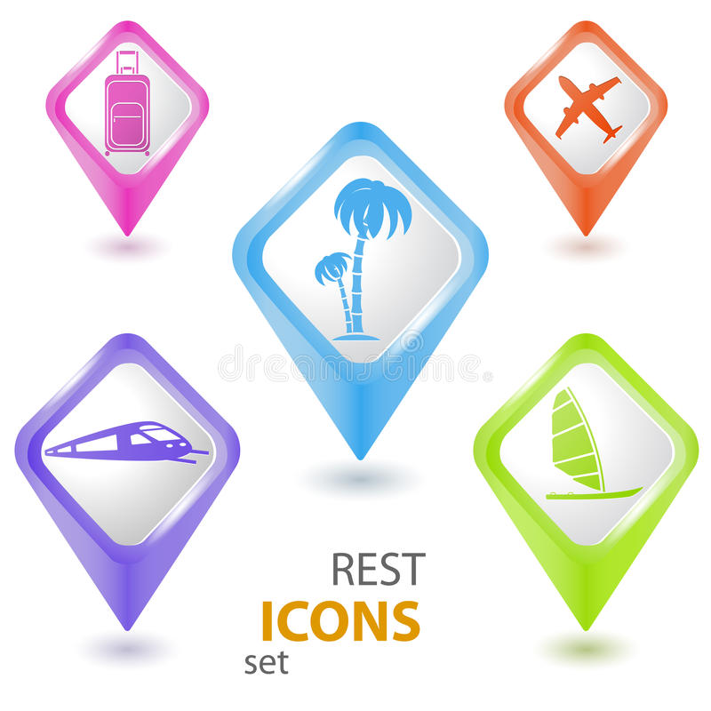Download Rest pointers set stock vector. Image of place, palm - 25903987