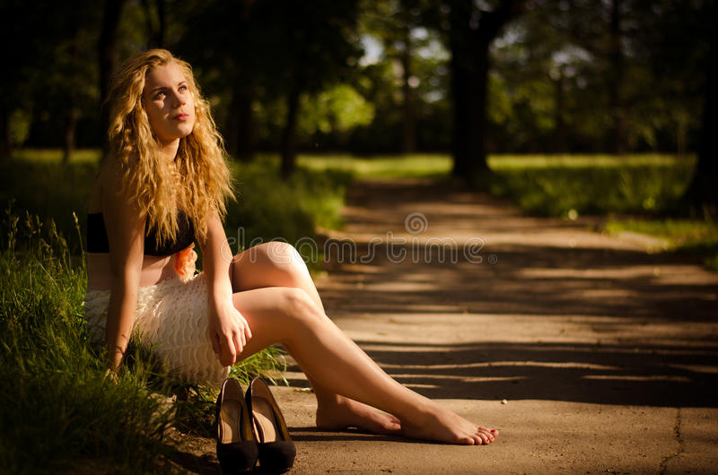 Download Rest by the road stock photo. Image of curly, nature - 25197860