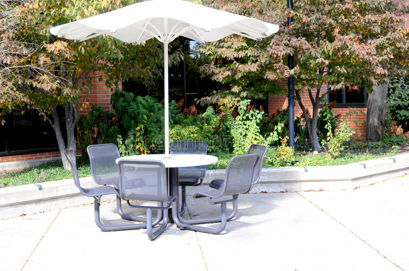 Download Rest table and chairs stock image. Image of metal, umbrella - 28219339