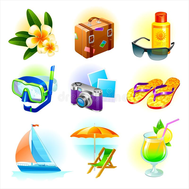 Download Rest and travel set stock vector. Image of rest, camera - 13183250