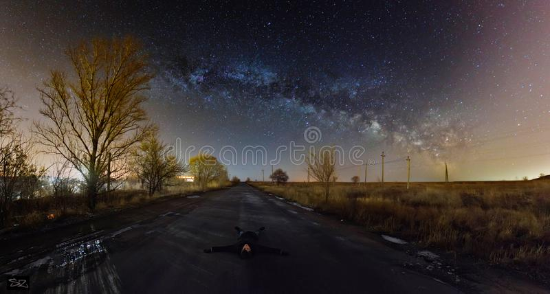 The rest under the Milky Way royalty free stock images
