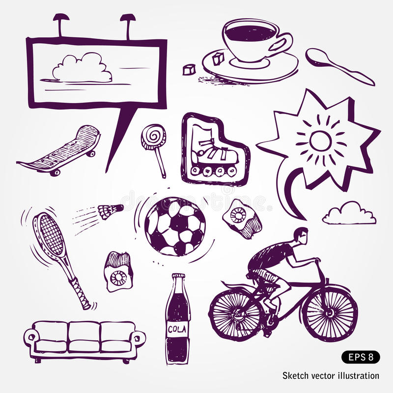 Download Rest And Vacation Icons Set Stock Vector - Image: 24880782
