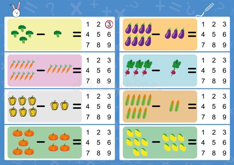 Restando Usando Imágenes, Hoja De Trabajo De La Matemáticas Para Los ...
