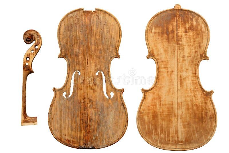 Restauração antiga do violino imagem de stock