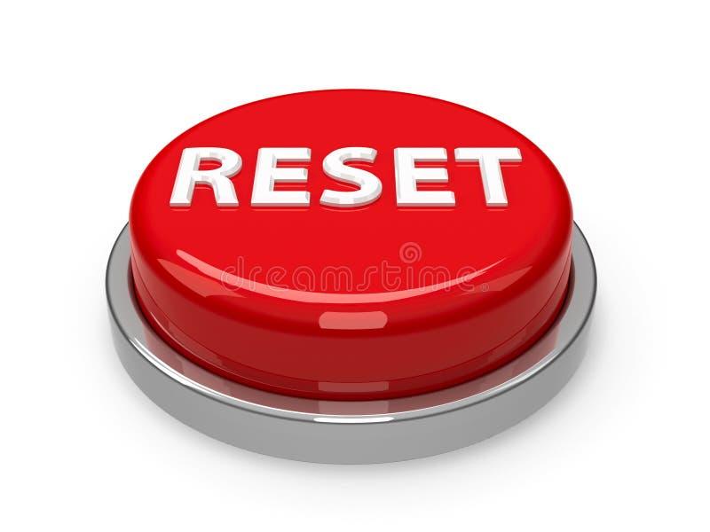 Restauração do botão ilustração stock