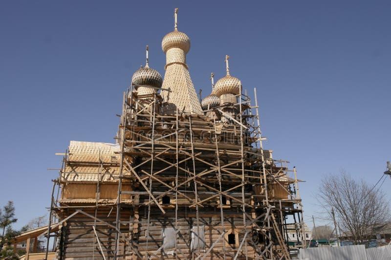 A restauração do templo fotografia de stock royalty free