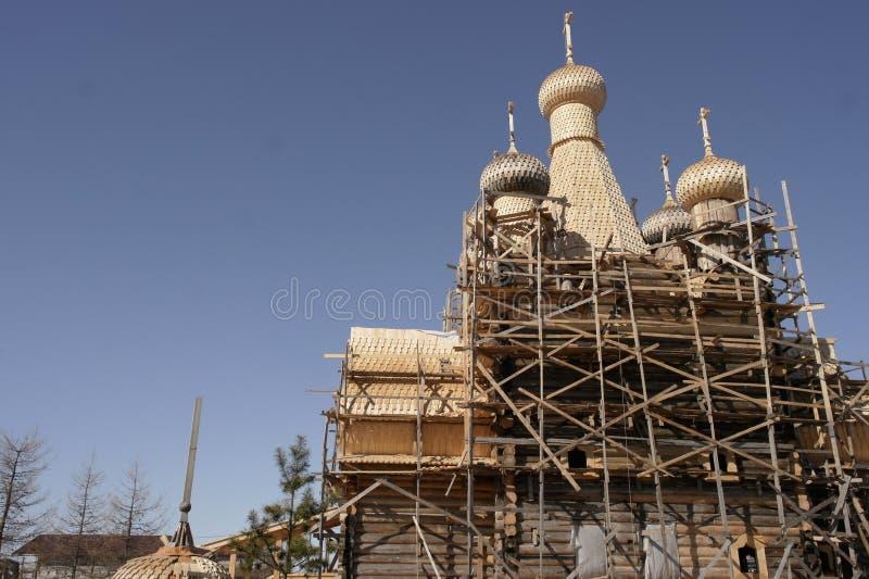A restauração do templo foto de stock royalty free