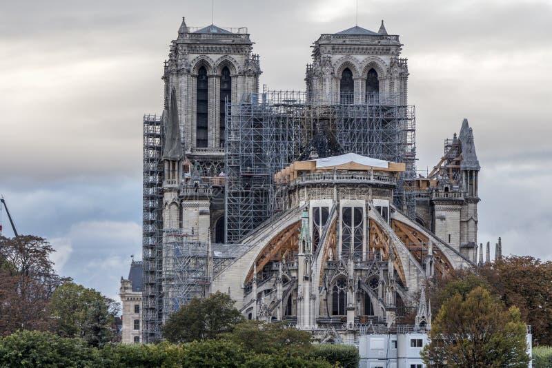 Restauración de Notre-Dame imagenes de archivo