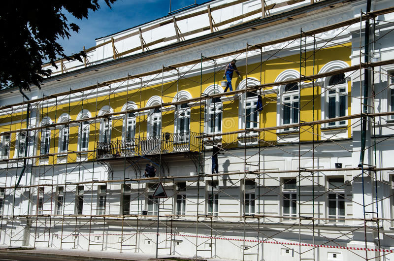 Restauración del edificio foto de archivo libre de regalías