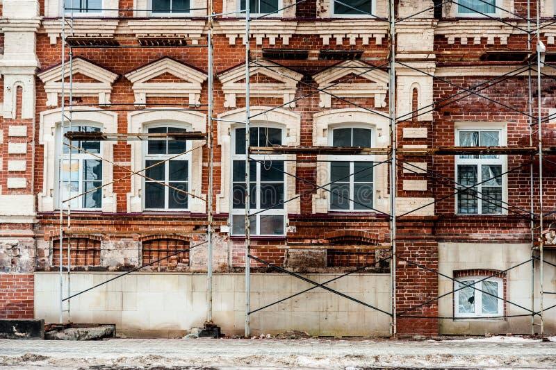 Restauración del edificio viejo imagen de archivo