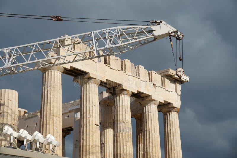 Restauración del Parthenon fotos de archivo