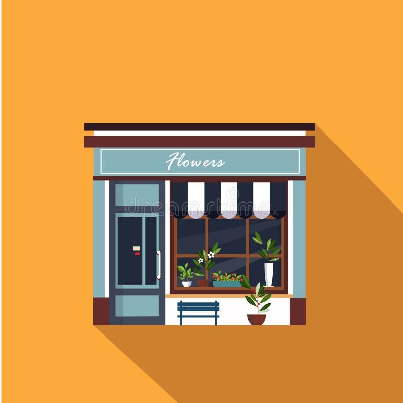 Restauracj i sklepów fasada, witryna sklepowa wektor ilustracji