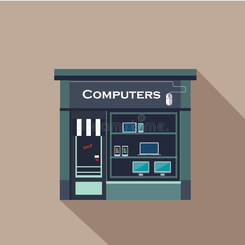Restauracj i sklepów fasada, witryna sklepowa wektor ilustracja wektor