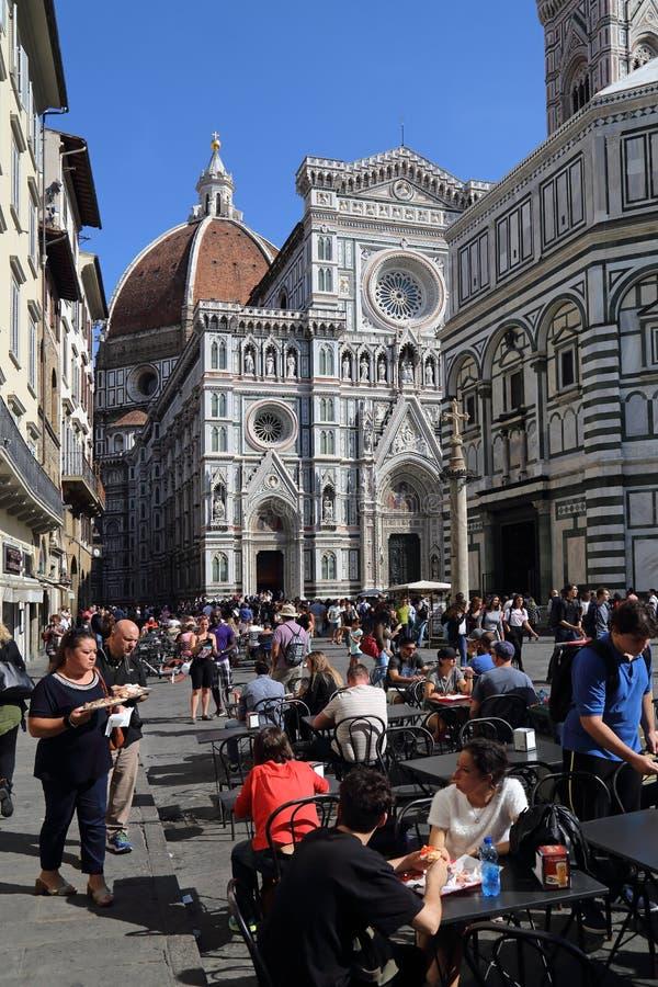Restauracja blisko katedry Florencja, Włochy fotografia royalty free