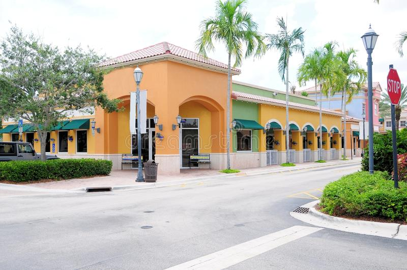 Restauracja i sklepy detaliczni, FL zdjęcia royalty free
