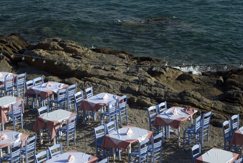 restauracja morzem fotografia stock