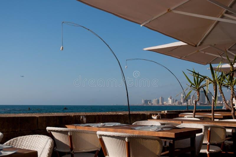 Restauracja na portowym Jaffa obraz royalty free