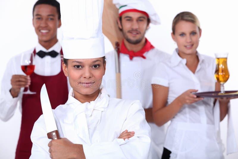 Restauracja personel zdjęcia royalty free