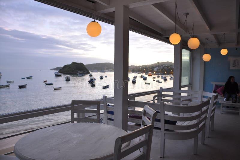 Restauracja przy plażą zdjęcie royalty free