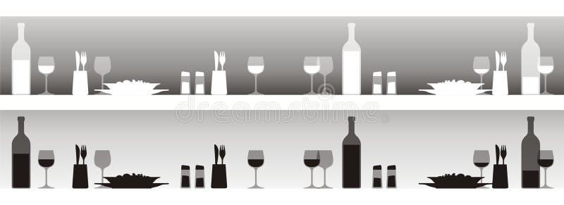 restauracja stół ilustracji