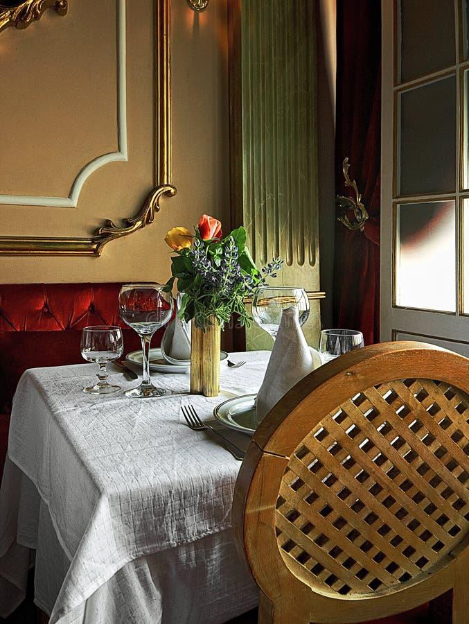 Restauracja stół zdjęcia royalty free