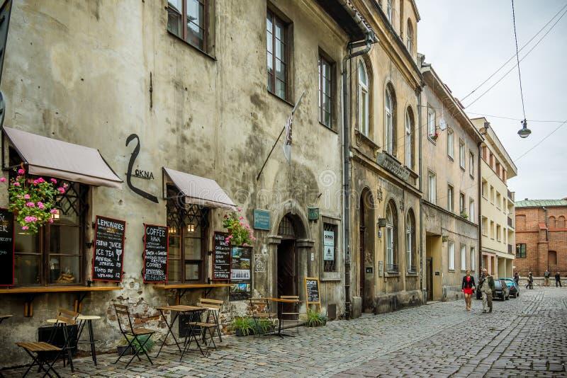 Restauracja w żydowskim okręgu w Krakow zdjęcia royalty free