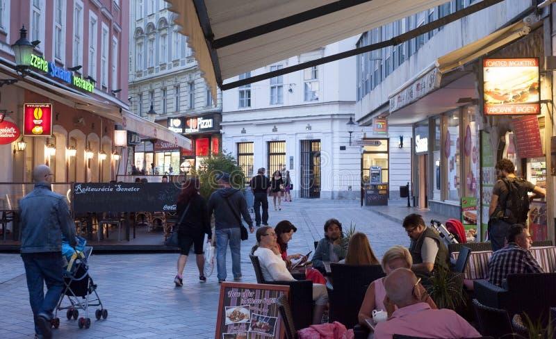 Restauracja w Bratislava, Sistani fotografia stock