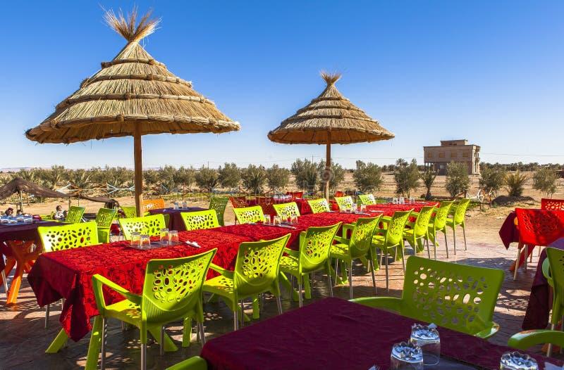 Restauracja w Ksar Ben, Maroko fotografia stock