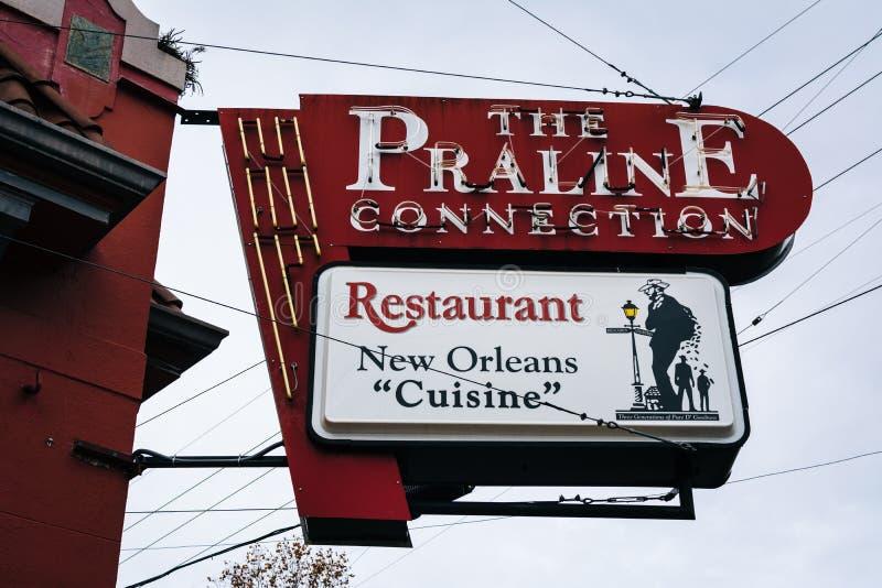 Restauracja w Marigny, w Nowy Orlean, Luizjana zdjęcie royalty free