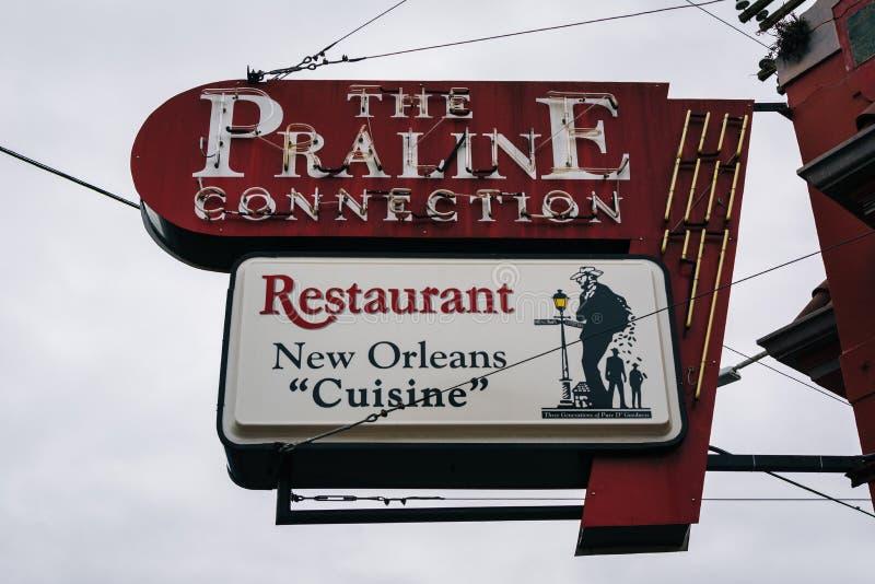Restauracja w Marigny, w Nowy Orlean, Luizjana zdjęcia royalty free