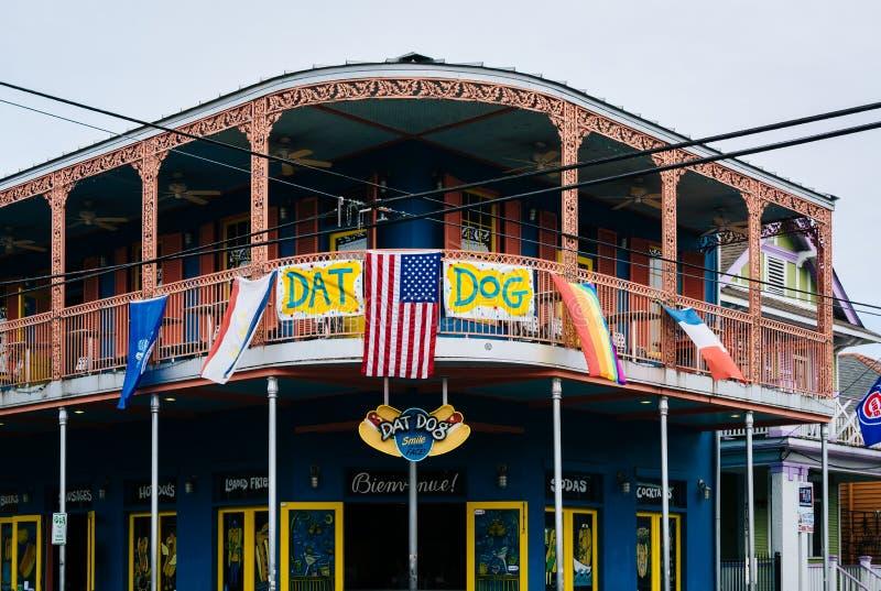 Restauracja w Marigny, w Nowy Orlean, Luizjana obraz stock