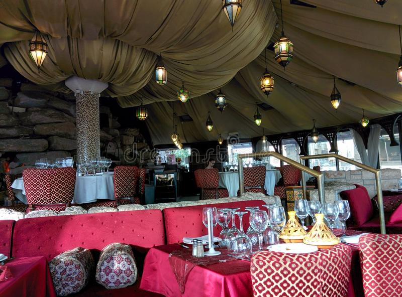 Restauracja w marokańczyka stylu zdjęcia stock