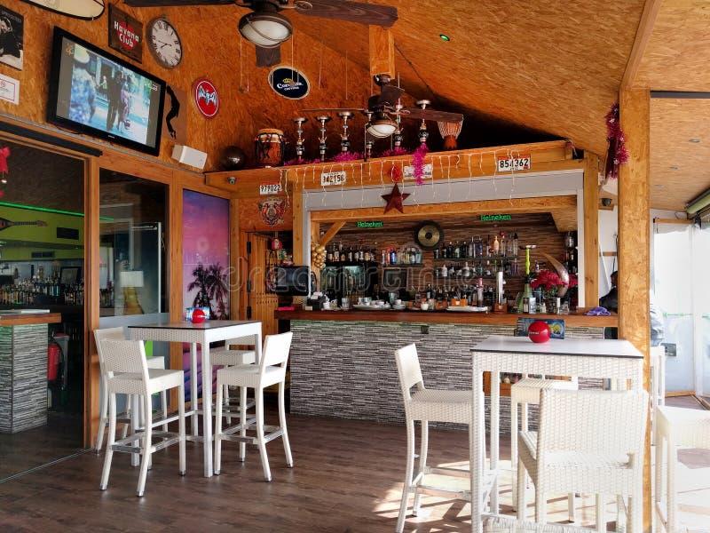 restauracja wewnętrzna Hiszpania zdjęcie stock