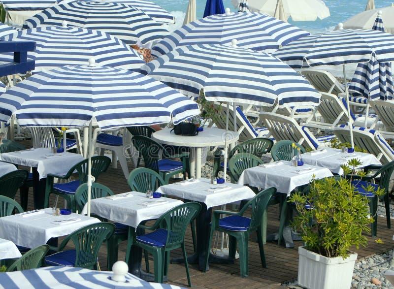 restauracja wzdłuż plaży fotografia royalty free