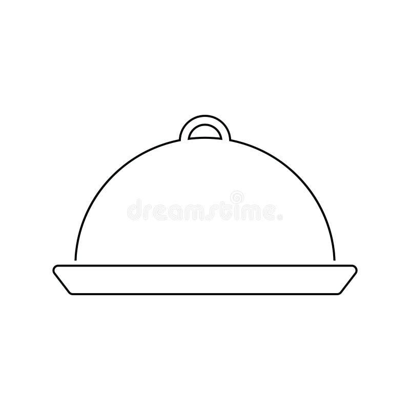 Restauracyjna cloche ikona ilustracji