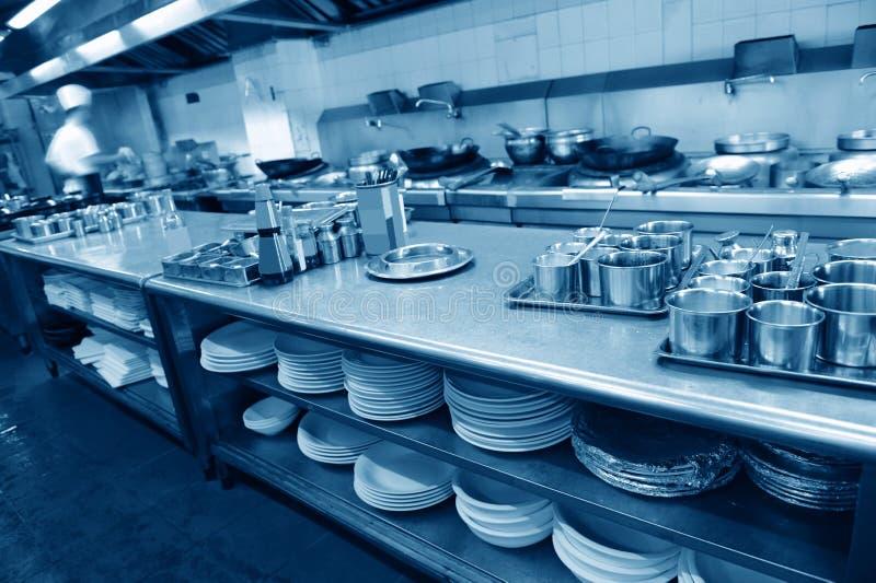 Restauracyjna kuchnia fotografia stock