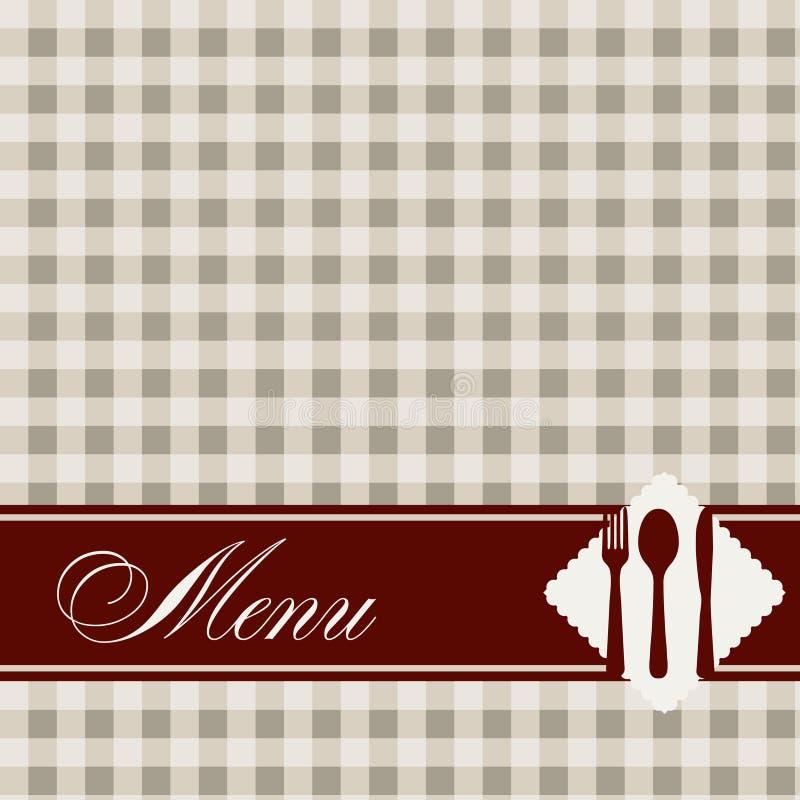 Restauracyjna menu szablonu ilustracja. ilustracji