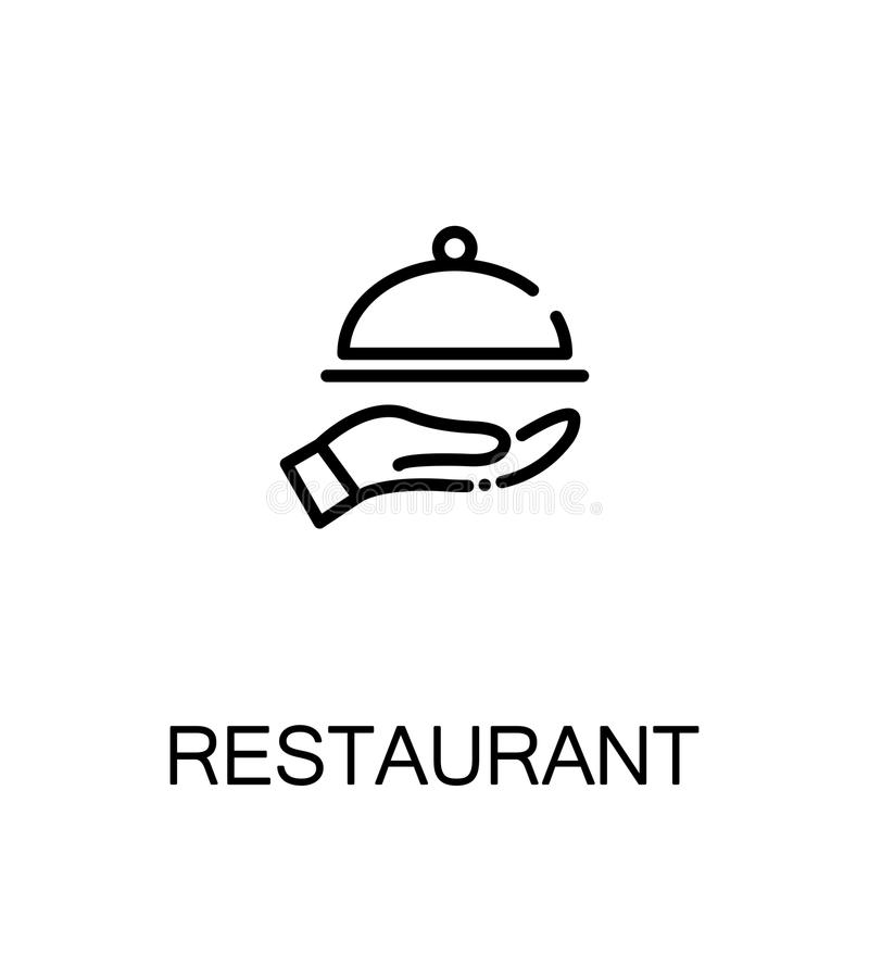Restauracyjna Płaska ikona ilustracja wektor