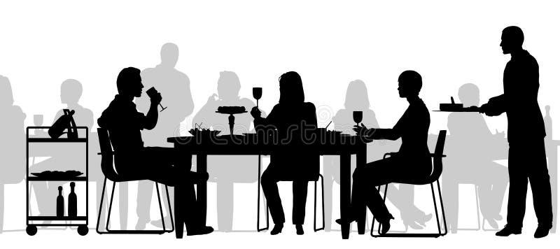 restauracyjna scena royalty ilustracja