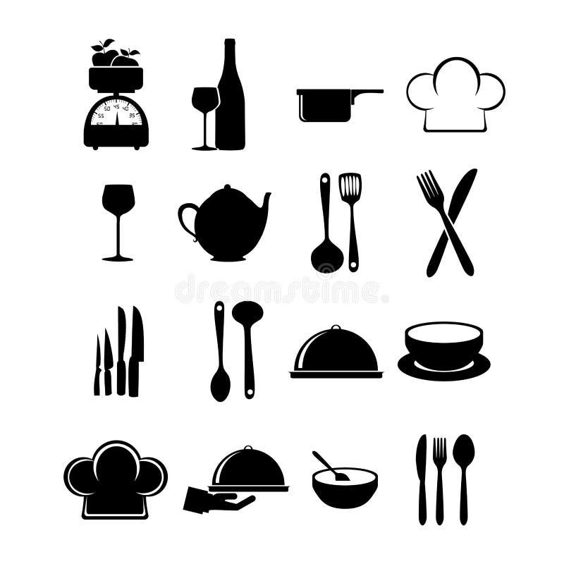 Restauracyjne ikony ilustracja wektor