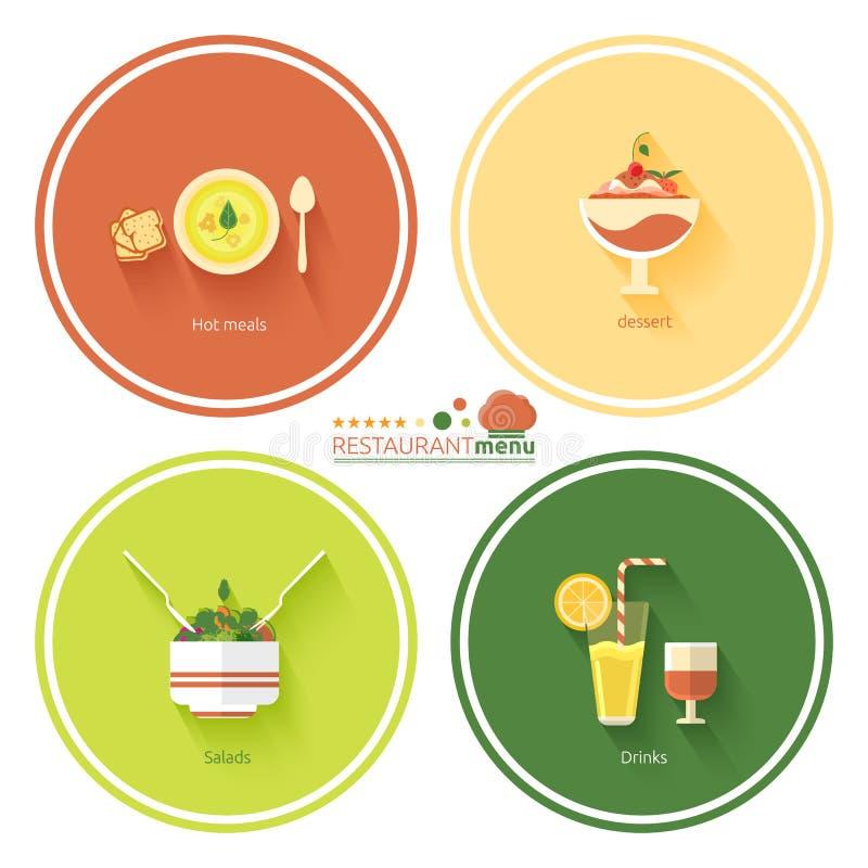 Restauracyjni menu projekty royalty ilustracja