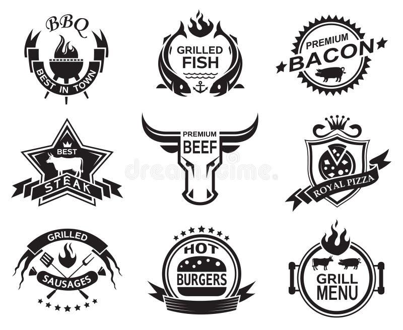 Restauracyjni projekty ilustracja wektor