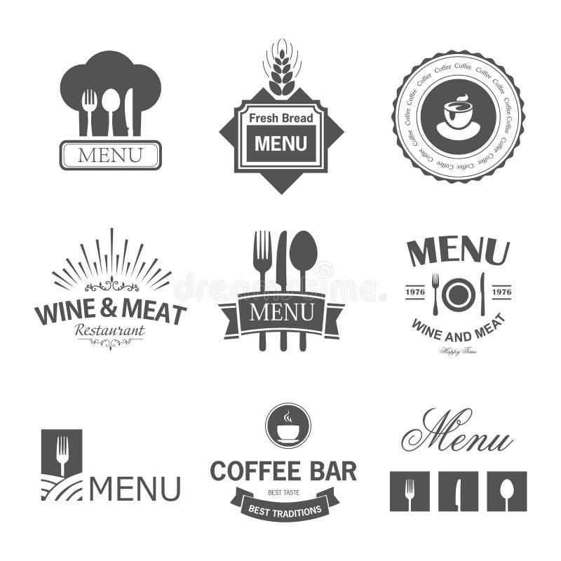 Restauracyjni znaki royalty ilustracja