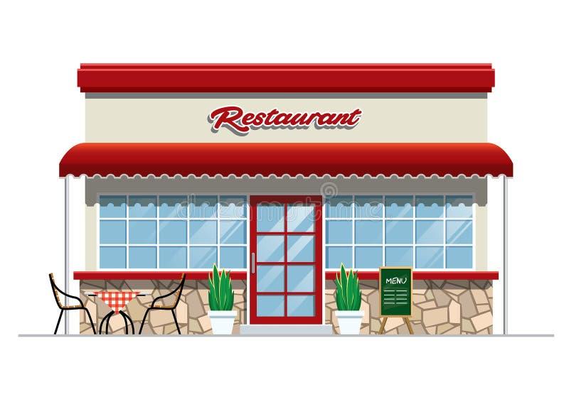 Restauracyjny budynek royalty ilustracja