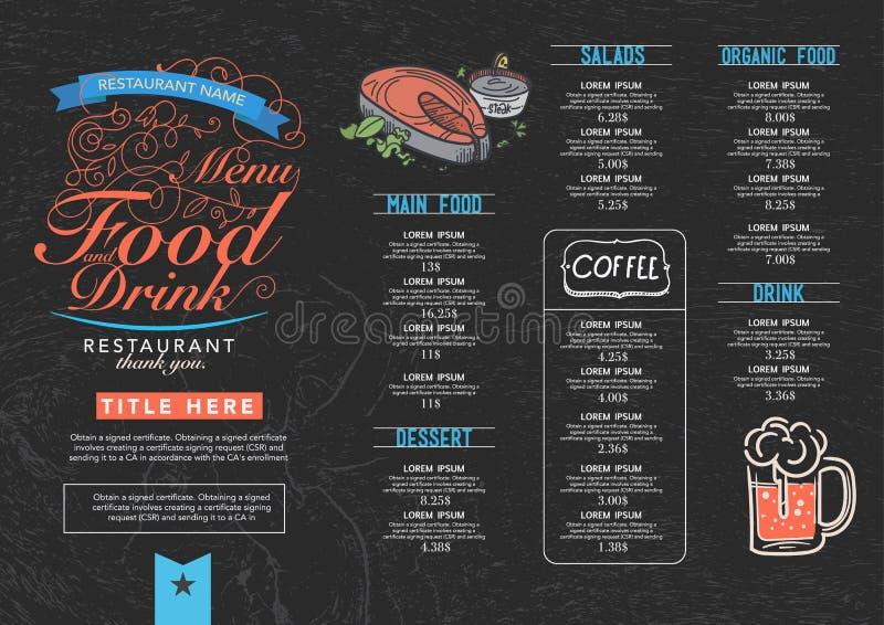 Restauracyjny cukierniany menu ilustracji